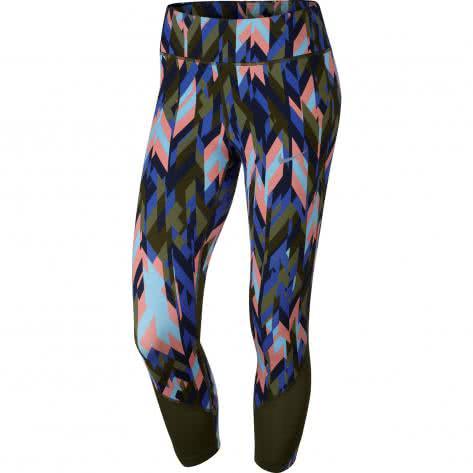 Nike Damen 34 Laufhose Power Epic Lux Running Crop Print 831611 331 S Legion GreenLegion Green | S |