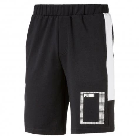 Puma Herren Short Summer Rebel Lite Short 10inch 850109-01 L Cotton Black | L