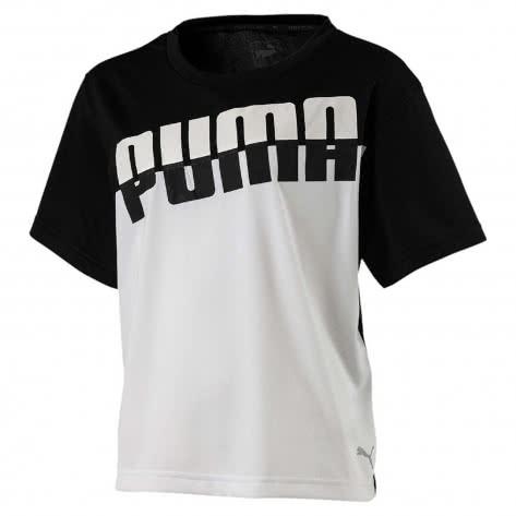 Puma Mädchen T-Shirt A.C.E. Tee G 851805 Puma Black Größe 128,140,152,164,176