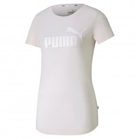 Puma Damen T-Shirt ESS+ Logo Heather Tee 852127