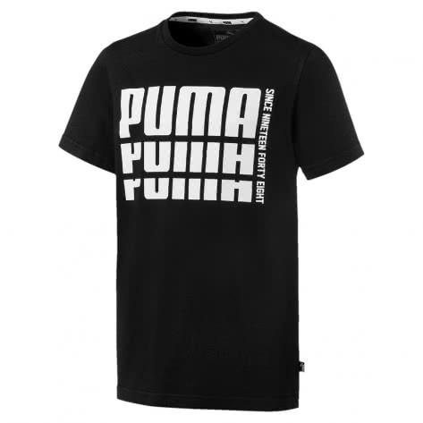 Puma Jungen T-Shirt Rebel Bold Basic Tee 852435 Cotton Black Größe 140