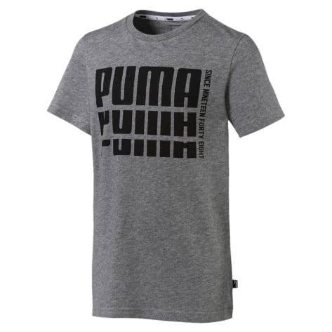 Puma Jungen T-Shirt Rebel Bold Basic Tee 852435 Medium Gray Heather Größe 128,140,152,164,176