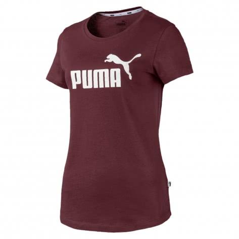 Puma Damen T-Shirt ESS Logo Tee 853455-96 XS Vineyard Wine | XS