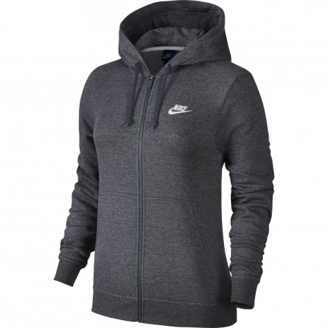 nike damen sweatjacke hoodie fz fleece 853930 071 l. Black Bedroom Furniture Sets. Home Design Ideas