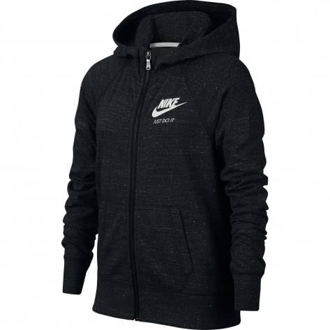 Nike Mädchen Sweatjacke Vintage Hoddie FZ 890271-010 128-137 Black/Sail | 128-137