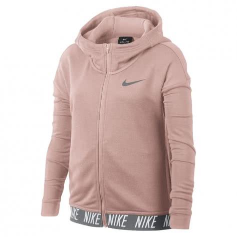 Nike Mädchen Sweatjacke Dry Hoodie FZ Core 890280 Crimson Tint Atmosphere Grey Größe 122 128,128 137,137 146,146 156,156 166