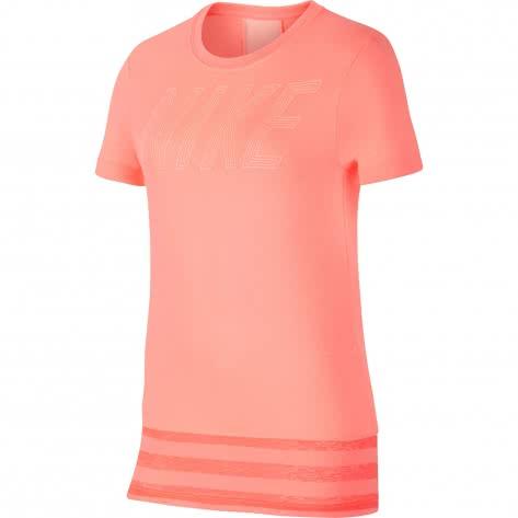 Nike Mädchen Trainingsshirt Dry Top SS Core GX 890292 Lt Atomic Pink Crimson Tint Größe 128 137,137 148,148 158,158 168