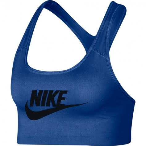 Nike Damen Sport BH Swoosh Futura Bra 899370-438 XS Indigo Force/Black | XS