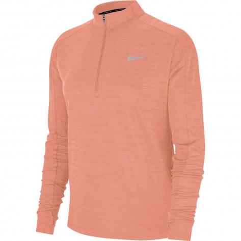 Nike Damen Lauftop Pacer LS 1/2 Zip 928613-606 XL Pink Quartz/Htr/Reflective Silv | XL