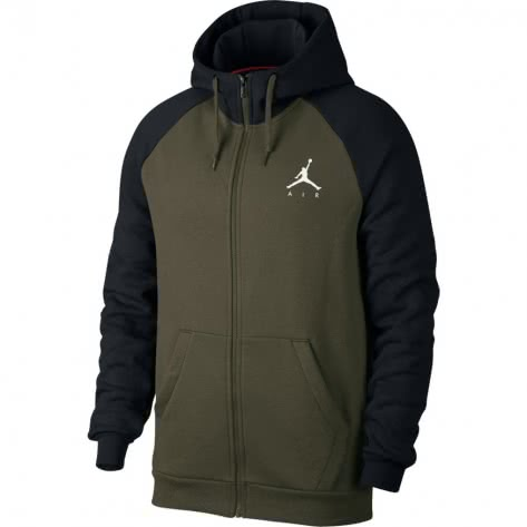 Jordan Herren Sweatjacke Jumpman Fleece FZ 939998-396 S Olive Canvas/Black/White | S