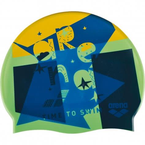 Arena Kinder Badekappe Print Jr 94171-201 One size Swim Time Green | One size