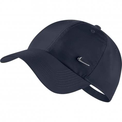 Nike Kappe Heritage 86 Cap Metal Swoosh 943092-451 Obsidian/Metallic Silver   One size