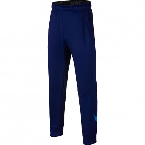 Nike Jungen Trainingshose Therma Pant GFX 943371-478 128-137 Blue Void/Blue Hero | 128-137