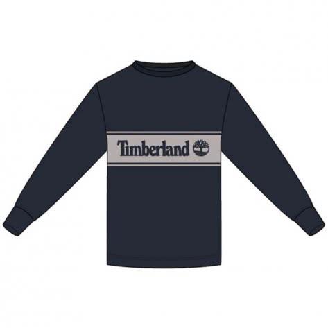 Timberland Herren Langarmshirt SS Cut & Sew Logo Tee A1Z24-X45 S DK SAPPHIRE/ELEPHANT SKIN | S