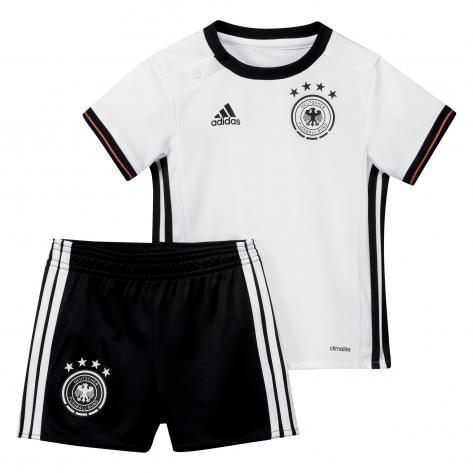 adidas DFB Home Baby Kit EM 2016 white black Größe 74
