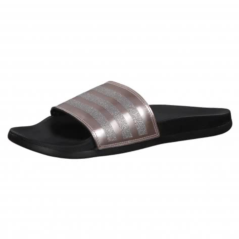 adidas CORE Damen Slipper ADILETTE COMFORT B75679 44 1/2 vapour grey met./vapour grey met./core black | 44 1/2