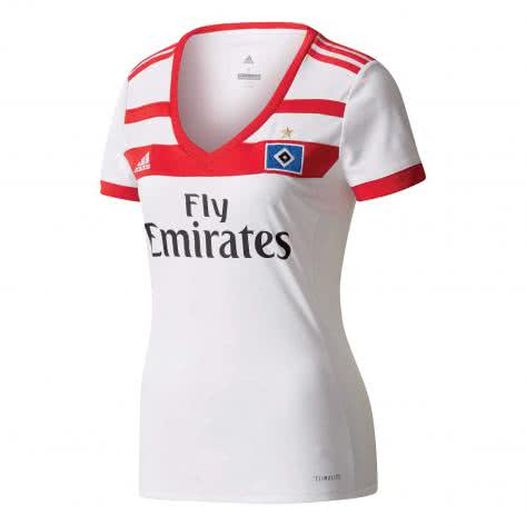 adidas Damen Hamburger SV Home Trikot 17/18 B41428 XS white/scarlet | XS