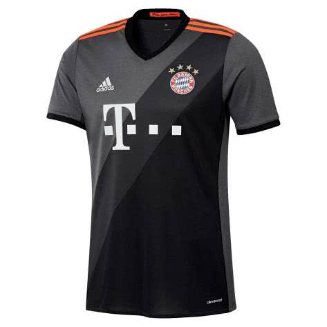 adidas Herren FC Bayern München Away Trikot 16/17 AZ4656 XS GRANIT/DGSOGR/BLACK   XS