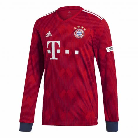 adidas Herren FC Bayern München Home Langarm Trikot 2018/19 CF5430 XS FCB TRUE RED/strong red/white | XS