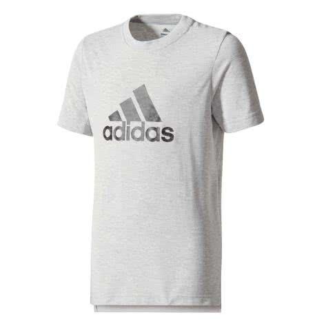 adidas Jungen T-Shirt Prime Logo Tee medium grey heather Größe 110,116,128,140,152,176