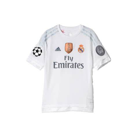 adidas Kinder Real Madrid Home Trikot YUWC 2015 16 White CLGrey Größe 128,140,152,164,176