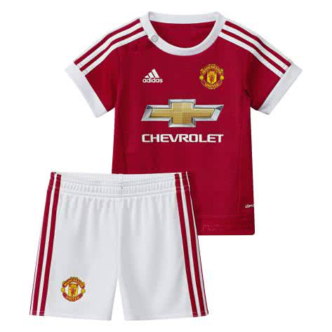 adidas Manchester United Home Baby Kit 2015 16 Real Red White Black Größe 74,80