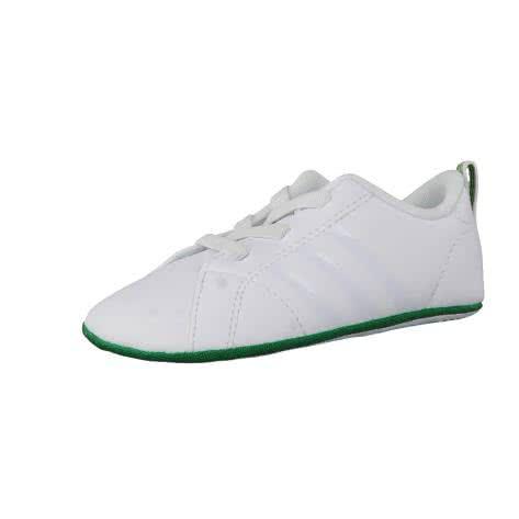adidas CORE Baby Sneaker VS Advantage Crib ftwr white ftwr white green Größe 17,19