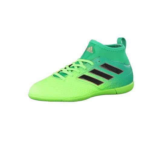 adidas Kinder Fussballschuhe ACE 17.3 IN J SGREEN CBLACK CORGRN Größe 28