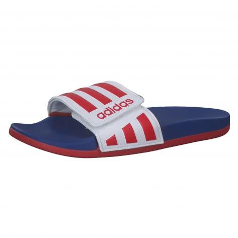 adidas Unisex Badeschlappen Adilette Comfort ADJ EG1346 51 1/3 Ftwr White/Scarlet/team Royal Blue | 51 1/3