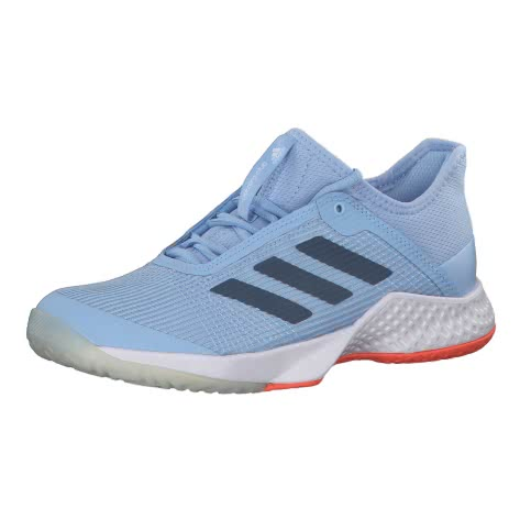 adidas Damen Tennisschuhe adizero club 2 w CG6548 43 1/3 glow blue/tech ink/hi-res coral | 43 1/3
