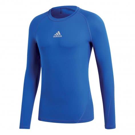 adidas Jungen Langarm Shirt ALPHASKIN TECHFIT bold blue Größe 116,128,140,152,164