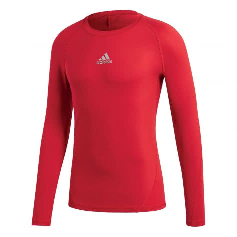adidas Jungen Langarm Shirt ALPHASKIN TECHFIT power red Größe 116,128,152