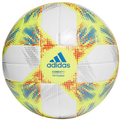 adidas Fussball CONEXT 2019 Top Training DN8637 4 white/solar yellow/solar red/football blue | 4