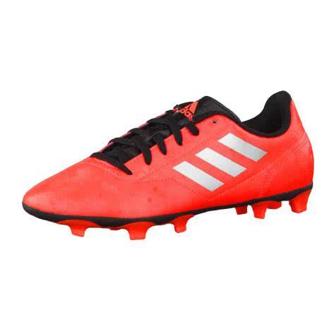 adidas Kinder Fussballschuhe Conquisto II FG Solar Red Silver Met. Core Black Größe 36 2 3,37 1 3,38 2 3