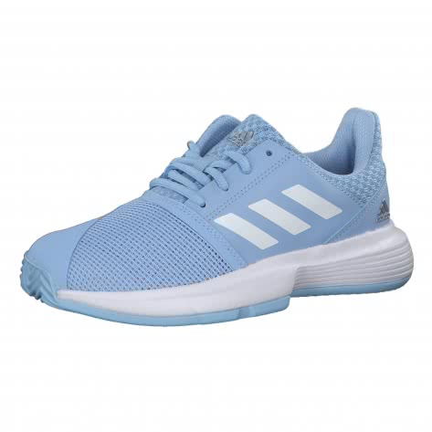 adidas Kinder Tennisschuhe CourtJam xJ EF0610 32 glow blue/ftwr white/silver met. | 32