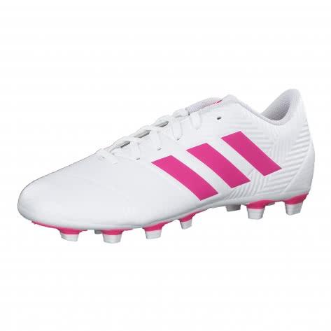 adidas Herren Fussballschuhe NEMEZIZ 18.4 FxG D97990 46 FTWWHT/SHOPNK/FTWWHT | 46