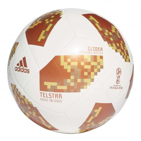 adidas Fussball Telstar 18 World Cup Glider WM 2018 CE8099 5 white/copper gold/gold met. | 5