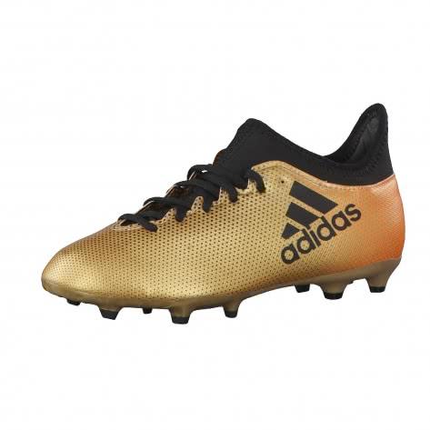 adidas Kinder Fussballschuhe X 17.3 FG J TAGOME CBLACK SOLRED Größe 38,38 2 3