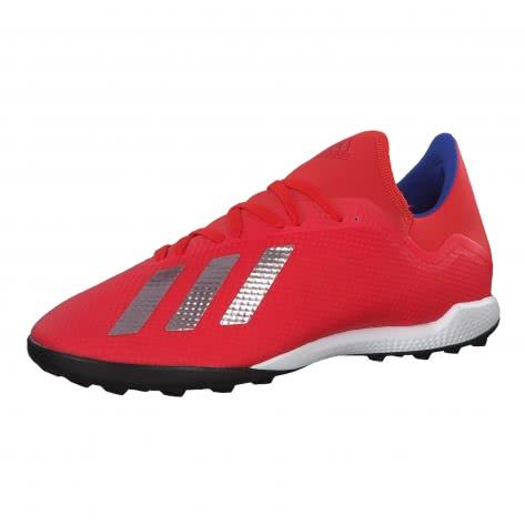 adidas Herren Fussballschuhe X 18.3 TF BB9399 46 ACTRED/SILVMT/BOBLUE | 46