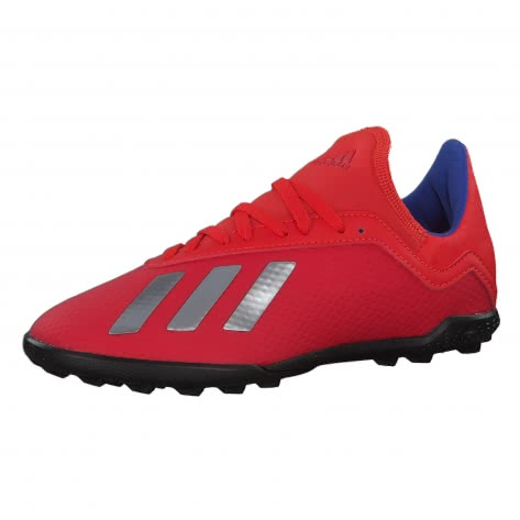 adidas Kinder Fussballschuhe X 18.3 TF J BB9403 30 1/2 ACTRED/SILVMT/BOBLUE   30 1/2