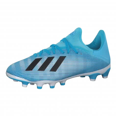 adidas Herren Fussballschuhe X 19.3 MG EF7549 46 2/3 BRCYAN/CBLACK/SHOPNK   46 2/3