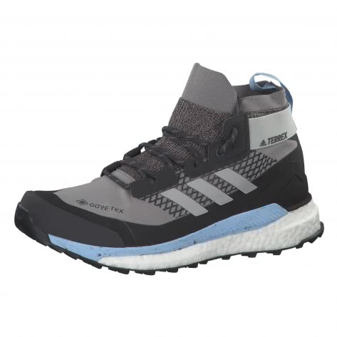 adidas TERREX Damen Wanderschuhe FREE HIKER GTX G28465 43 1/3 ch solid grey/GREY TWO F17/glow blue   43 1/3