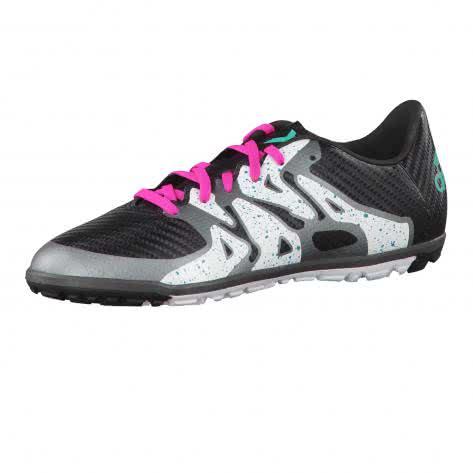 adidas Kinder Fussballschuhe X 15.3 TF Jr core black shock mint s16 ftwr white Größe 36 2 3,38