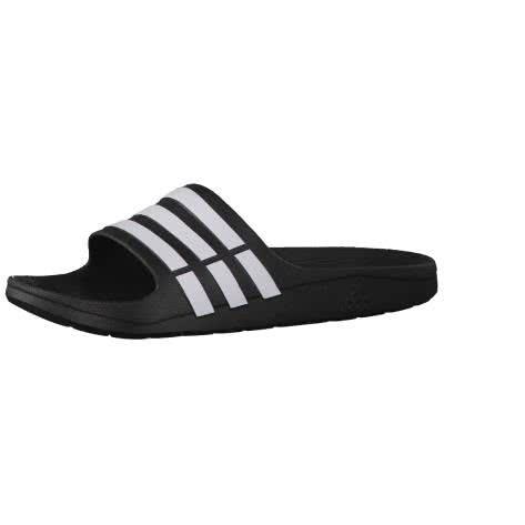 adidas Badeschlappen Duramo Slide G15890 53 1/3 black/black/white | 53 1/3