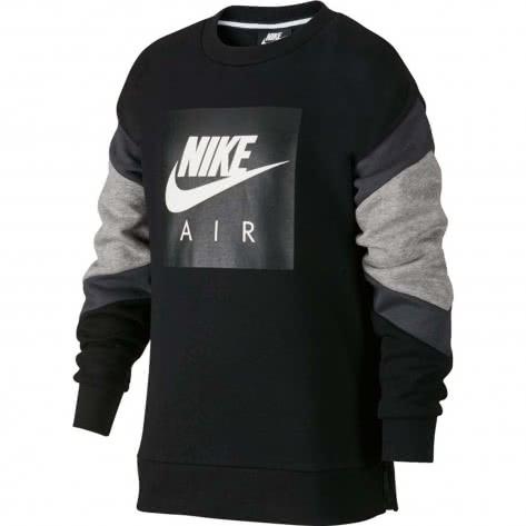 Nike Jungen Pullover Nike Air Crew AJ0114 Black Dk Grey Heather Anthracite Größe 128 137,137 147,147 158