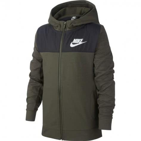 Nike Jungen Sweatjacke Advance 15 AJ0117-325 137-147 CARGO KHAKI/CARGO KHAKI/BLACK/WHITE | 137-147