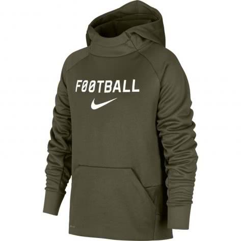 Nike Jungen Kapuzenpullover Therma Hoodie Po FTBL AJ0150 Olive Canvas Größe 128 137,137 147,147 158,158 170