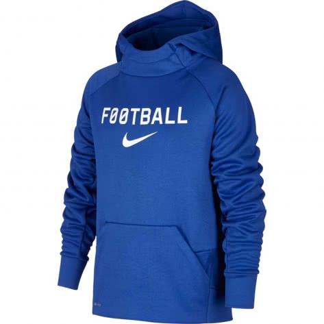 Nike Jungen Kapuzenpullover Therma Hoodie Po FTBL AJ0150 Game Royal Größe 122 128,128 137,137 147,147 158,158 170