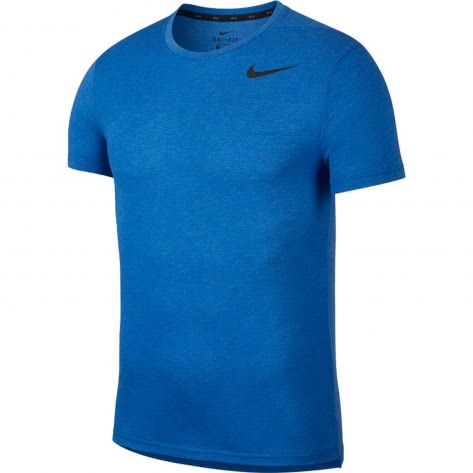 Nike Herren Trainingsshirt Breathe Top SS HPR Dry AJ8002-456 XL Lt Game Royal Htr/Black | XL