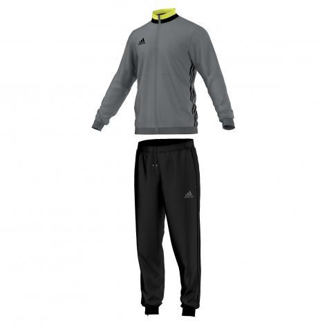 adidas Kinder Polyesteranzug Trainingsanzug Condivo 16 vista grey s15 black Größe 128